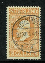 100B. 5 Gulden ⦿ Langebalkstempel Groningen. Luxe