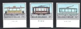 België 1983. 2079/81 Tram & Trolleybus met plaatnummers **