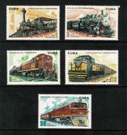 Cuba 1975. Locomotieven 5 waarden **