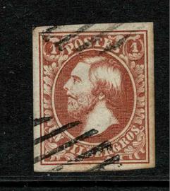1852. 2 1 zilvergrosschen, bruinrood. Luxe exemplaar