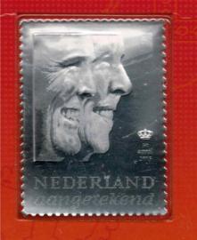 2013. Troonswisseling Willem Alexander. Zilveren zegel **