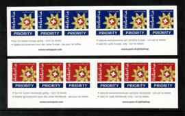 2003. Postzegelboekjes 75 en 76. Zelfklevend **