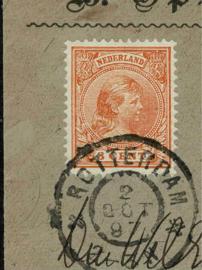 1897. 34. 3 ct. oramje. Enkelfrankeribg. Lokaal gebruikt.