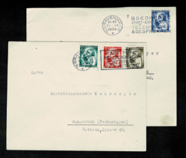 1934. 270/3 Kinderzegels complete serie op 2 couverts ✉️