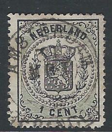 14A. 1 cent zwart. Luxe exemplaar