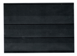 Hawid zwarte insteekkaartjes 3-regelig met schutblad 50 stuks