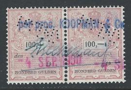 Knegt in Plakzegel 344, 100 Gulden, in paar