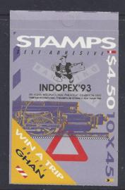Australië 1993. Spoorwegen Postzeglboekje zelfklevend Opdruk **