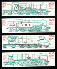 Engeland 1983. 4 complete postzegelboekjes met verschillende kaften** G FK 5-6-7-8