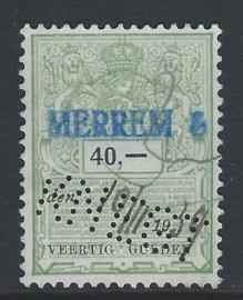 Knegt in plakzegel 366, 40 Gulden