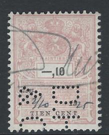 D.H.&C. in plakzegel 298, 10 cent