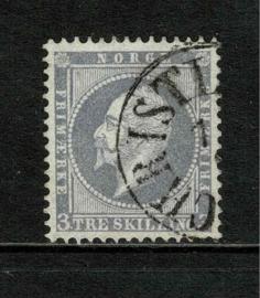 Noorwegen  1856. 3.  3 skilling violet-grijs ⦿