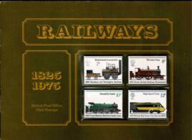 Engeland 1975. Souvenir pack. 150 jaar Spoorwegen