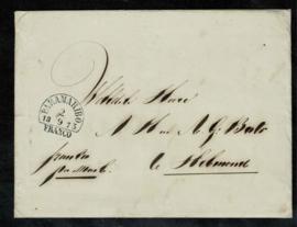 1873. Enveloppe met volledig briefinhoud naar Helmwond