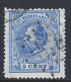 19C. 5 cent blauw