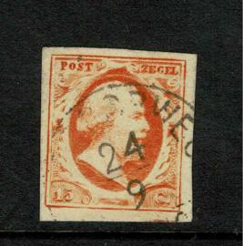3b. 15 cent Donkeroranje Stempel H. Spoorweg 24/9/....