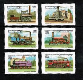 Cambodja 1999. Serie van 6 waarden + blok **