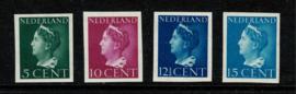 1940. 332/337v 4 waarden Konijnenburg. Ongetand **