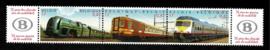 België 2001. 2993/5 75 jaar NMBS triptiek met vignetten **