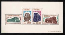 Centrafricaine (Rep.) 1963. Blok 1 aanleg spoorweg **