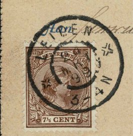 1899. 5 ct PWS met 36 7 ½ ct. opwaardering