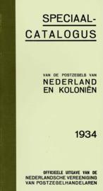 1934. herdruk Postzegelcatalogus uit dit jaar.
