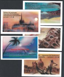 1996/98.Cartolina Hotelpostzegels in cel boekjes **