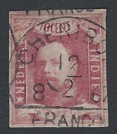 1864. 1, 10 ct Koning Willem III