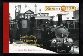 Isle of Man 1998. Prestige boekje 125 jaar Spoorwegen **