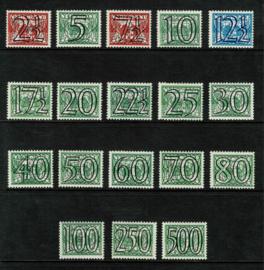 """1940. 356/73. Complete serie """"Tralie"""" guiioche opdrukken **"""