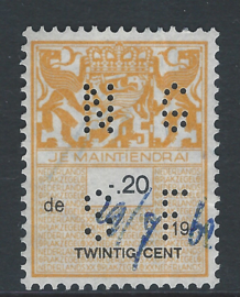 NGSF in plakzegel 370,  20 cent