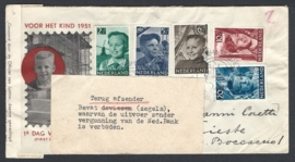 1951. E6 Kinderzegels. Geweigerd en retour