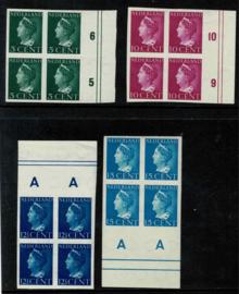 1940. 332/337v, 4 waarden Konijnenburg. Ongetand met verlanden in ⊞**