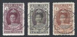 1923. 164/6 Jubileum hoge waarden, luxe gebruikt.
