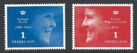 2013. 3054 + 3066 Beatrix en Willem Alexander **