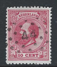 21C. 10 cent rood