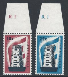 1956. 681/2 Europa met plaatnummers **