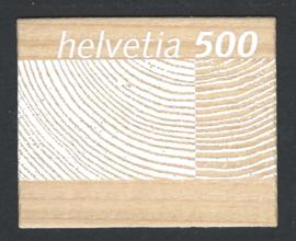 2004. Echt houten postzegel. Zeer bijzonder**