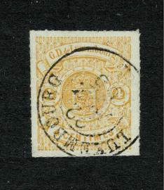 1866. 14. 4 centimes Stadswapen ⦿ Pracht exemplaar.