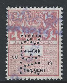 """RBV Amsterdam in plakzegel 298, 10 cent. variatie """"de"""""""