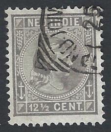 1895. 24, 12½ ct grijs Wilhelmina Hangend Haar