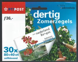 2001 Compleet Hangboekje Zomerzegels 1970/72