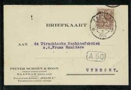 SZ3 Zaandam 61 op briefkaart