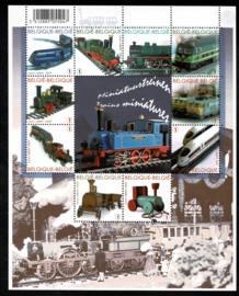 Belgie 2009. 3958/3967 Vel 10 zegels Miniatuurtreinen **