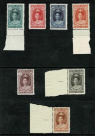 1923. 160/66 Jubileum. Luxe serie deels met verland **