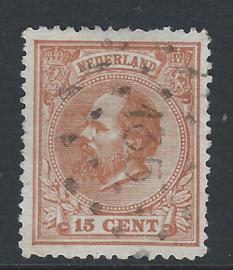 23C. 15 cent oranjebruin