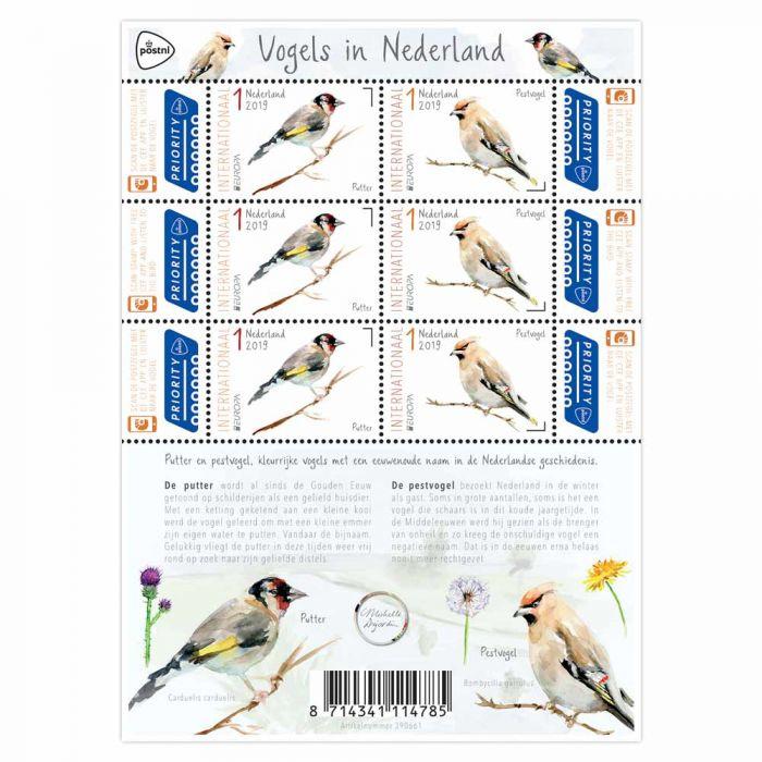 2019. V3738/9 PostEuropa Vogels ** Compleet vel.
