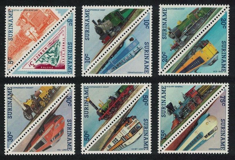 Suriname 1985. Complete serie, 12 waarden. Driehoekzegels **