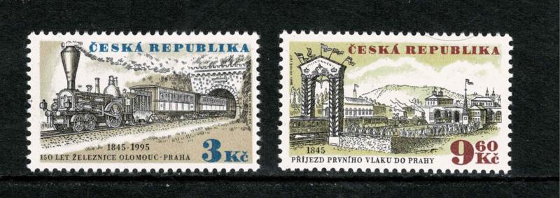 Tsjechië 1995. 150 jaar spoorwegen. Complete serie **