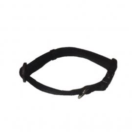 Soft nylon halsband zwart 28-44 cm